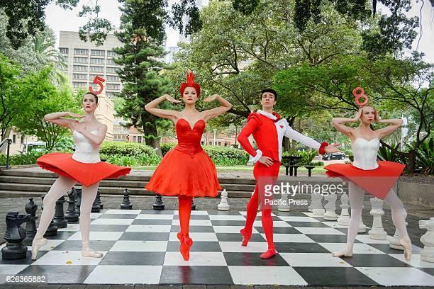 PARK SYDNEY NSW AUSTRALIA Dancers Sharni Spencer Valerie Tereshchenko Jake Mangakahia and Jacqueline Clark preview the Australian Ballet's production...