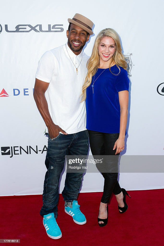 Dancers Stephen 'Twitch' Boss and Allison Holker attend LEXUS Live On Grand at the 3rd Annual Los Angeles Food & Wine Festival Arrivals on August 24, 2013 in Los Angeles, California.