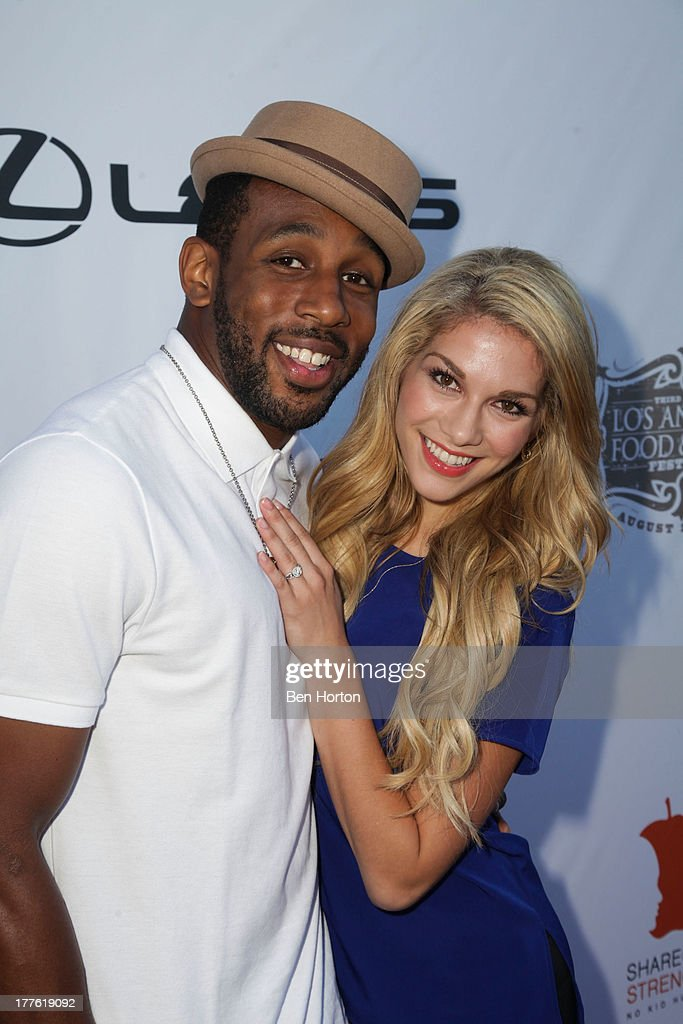 Dancers Stephen 'tWitch' Boss and Allison Holker attend LEXUS Live on Grand hosted by Curtis Stone at the third annual Los Angeles Food & Wine Festival on August 24, 2013 in Los Angeles, California.