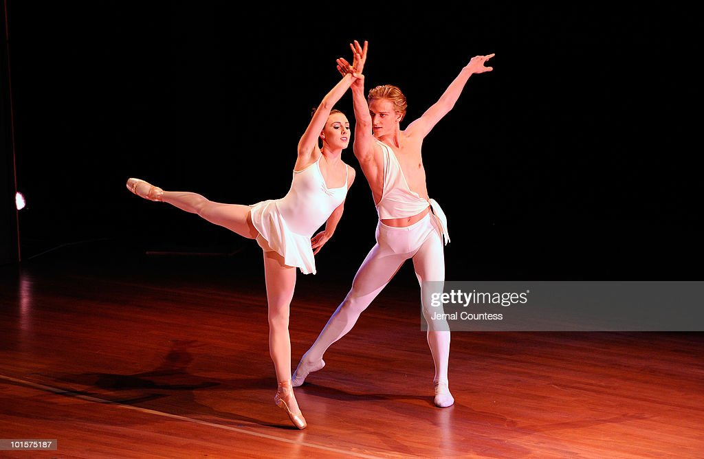 Dancers Tiler Peck and David Hallberg perform during the 2010 World Science Festival Opening Night Gala at Alice Tully Hall, Lincoln Center on June 2, 2010 in New York City.