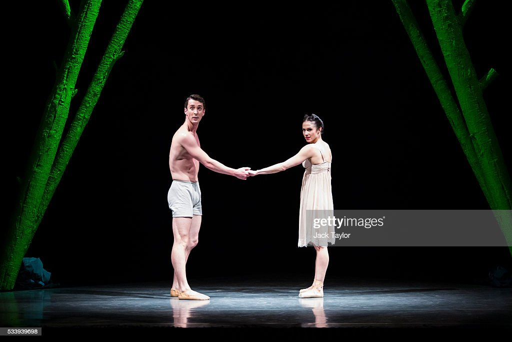 Dancers Tobias Batley and Martha Leebolt from the Northern Ballet company perform 'Countryside Pas de Deux' from '1984' during a rehearsal at Sadler's Wells Theatre on May 24, 2016 in London, England. The new ballet, adapted from George Orwell's classic dystopian novel based around a superstate controlled by an authoritarian 'Big Brother', has been created by former Royal Ballet dancer Jonathan Watkins and will run from the 24th - 28th of May.