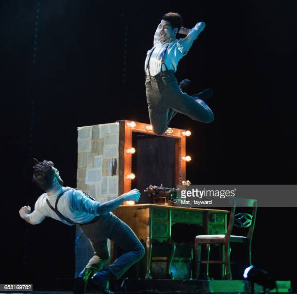 Dancers Travis Wall and Lex Ishimoto of Shaping Sound performs during the 'After The Curtain' show at Paramount Theatre on March 26 2017 in Seattle...
