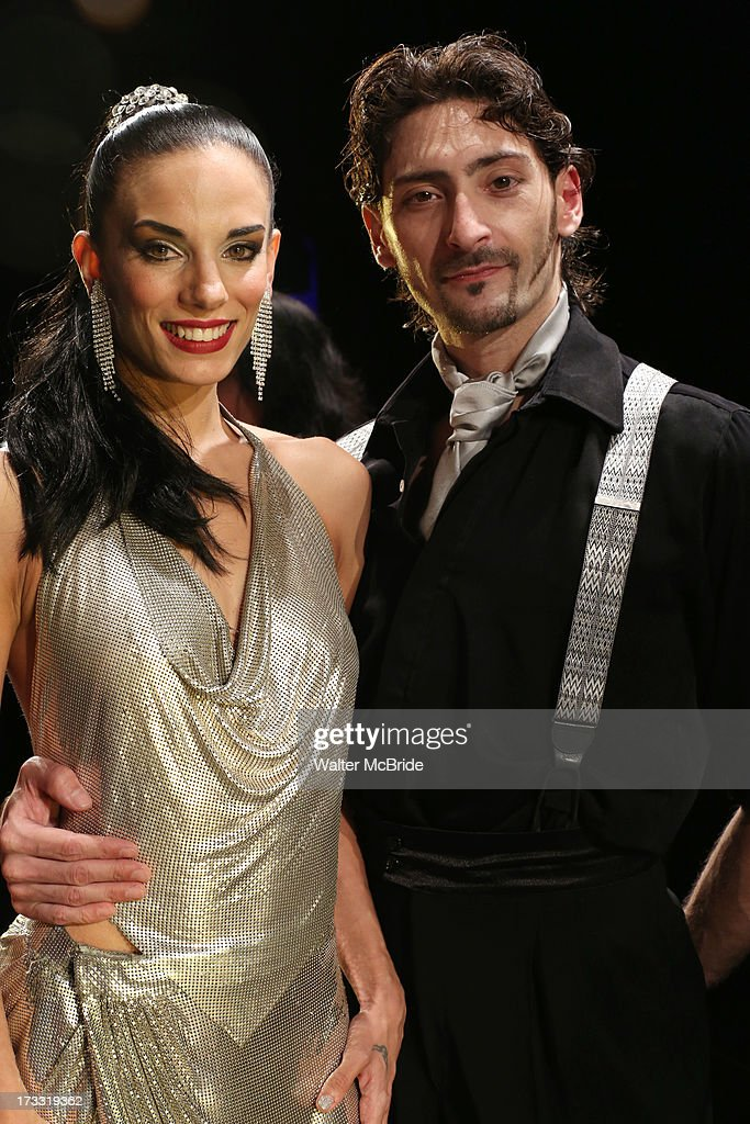 Dancers Victoria Galoto and Juan Paulo Horvath attend 'Forever Tango' Press Preview at Walter Kerr Theatre on July 11, 2013 in New York City.