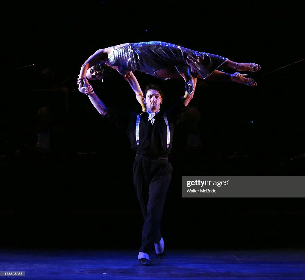 Dancers Victoria Galoto and Juan Paulo Horvath perform 'Forever Tango' Press Preview at Walter Kerr Theatre on July 11, 2013 in New York City.