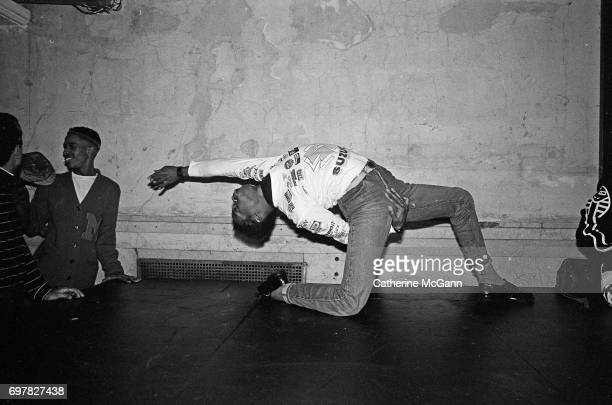 Dancers voguing at nightclub Mars in 1988 in New York City New York