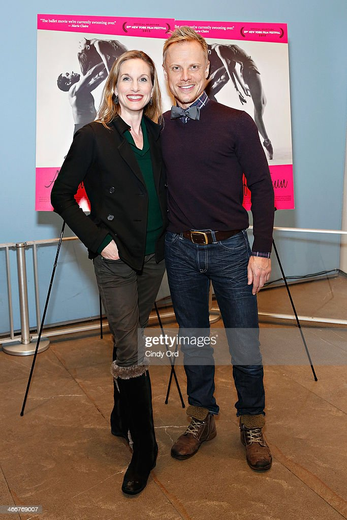 Dancers Wendy Whelan and Michael Trusnovec attend the 'Afternoon Of A Faun' screening on February 3, 2014 in New York City.