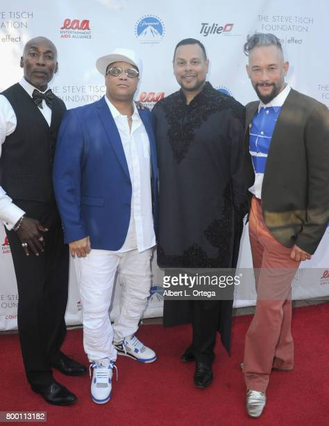 Dancers/honorees Carlton Wilborn Oliver S Crumes III Luis Camacho and Kevin Stea attend the Entertainment AIDS Alliance's Annual EAA Wine Wisdom...