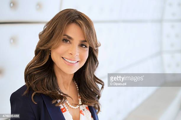 Dancer/singer Paula Abdul poses for a portrait while visiting 'Extra' at their New York studios at HM Times Square on May 31 2015 in New York City