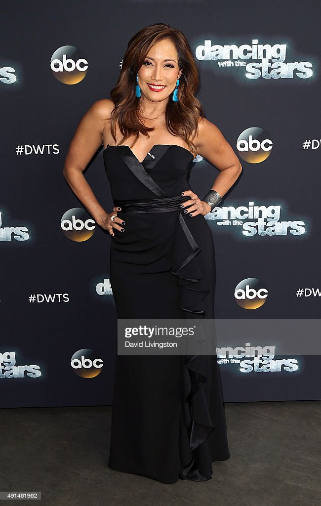Dancer/TV personality Carrie Ann Inaba attends 'Dancing with the Stars' Season 21 at CBS Televison City on October 5 2015 in Los Angeles California