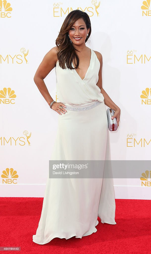 Dancer/TV personality Carrie Ann Inaba attends the 66th Annual Primetime Emmy Awards at the Nokia Theatre LA Live on August 25 2014 in Los Angeles...