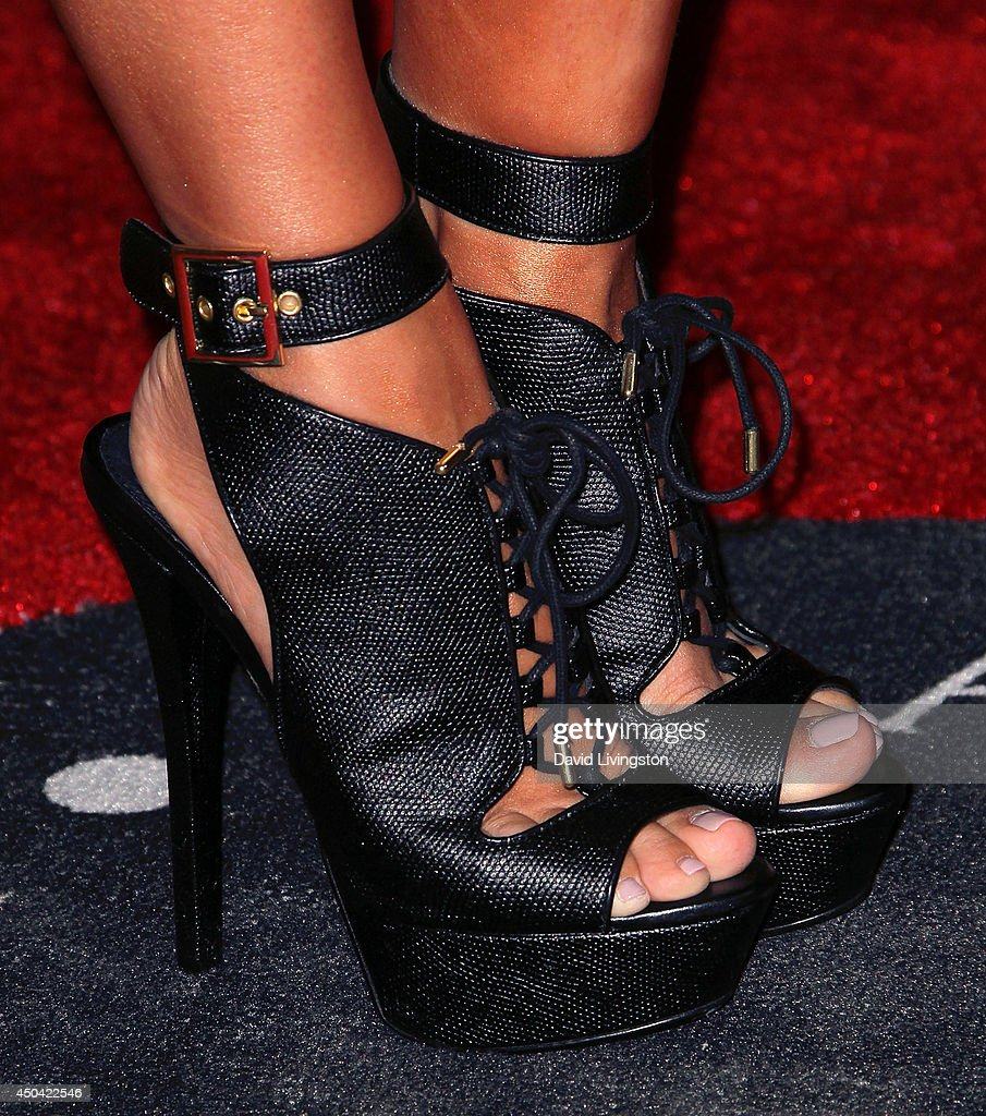 Dancer/TV personality Cheryl Burke (shoe detail) attends the Maxim Hot 100 event at the Pacific Design Center on June 10, 2014 in West Hollywood, California.