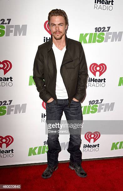 Dancer/TV personality Derek Hough attends KIIS FM's Jingle Ball 2014 powered by LINE at Staples Center on December 5 2014 in Los Angeles California