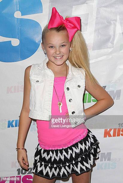 Dancer/TV personality JoJo Siwa attends the 1027 KIIS FM's Annual Teen Choice PreParty at W Los Angeles Westwood on August 14 2015 in Los Angeles...