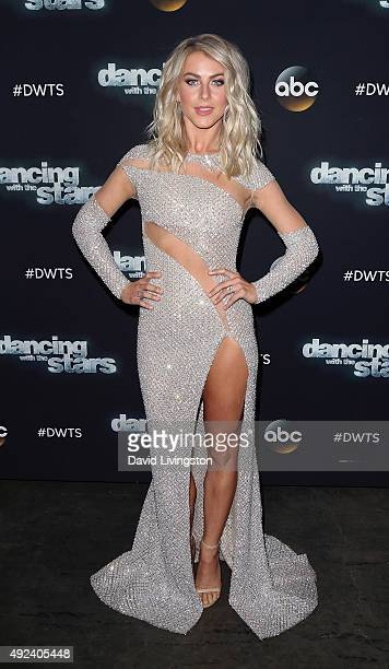 Dancer/TV personality Julianne Hough attends 'Dancing with the Stars' Season 21 at CBS Television City on October 12 2015 in Los Angeles California