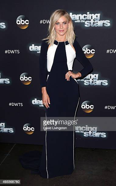 Dancer/TV personality Julianne Hough attends 'Dancing with the Stars' Season 21 at CBS Televison City on October 19 2015 in Los Angeles California