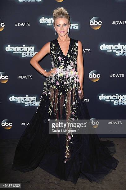 Dancer/TV personality Julianne Hough attends 'Dancing with the Stars' Season 21 at CBS Televison City on October 26 2015 in Los Angeles California
