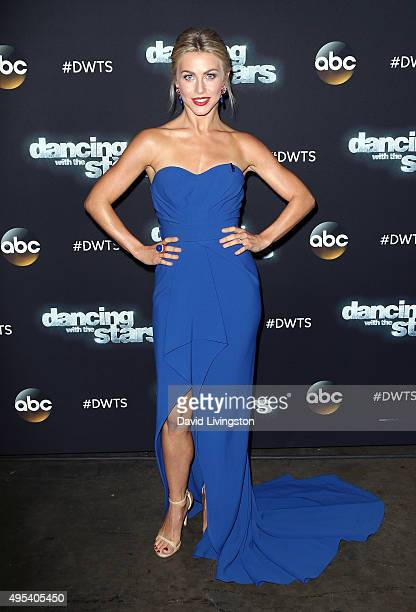 Dancer/TV personality Julianne Hough attends 'Dancing with the Stars' Season 21 at CBS Televison City on November 2 2015 in Los Angeles California