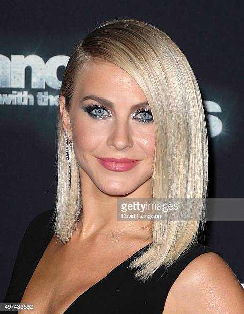 Dancer/TV personality Julianne Hough attends 'Dancing with the Stars' Season 21 at CBS Television City on November 16 2015 in Los Angeles California