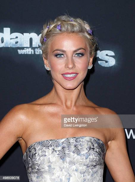 Dancer/TV personality Julianne Hough attends 'Dancing with the Stars' Season 21 at CBS Televison City on November 23 2015 in Los Angeles California