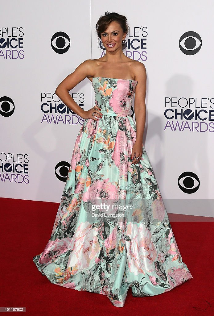 Dancer/TV personality Karina Smirnoff attends the 2015 People's Choice Awards at the Nokia Theatre L.A. Live on January 7, 2015 in Los Angeles, California.