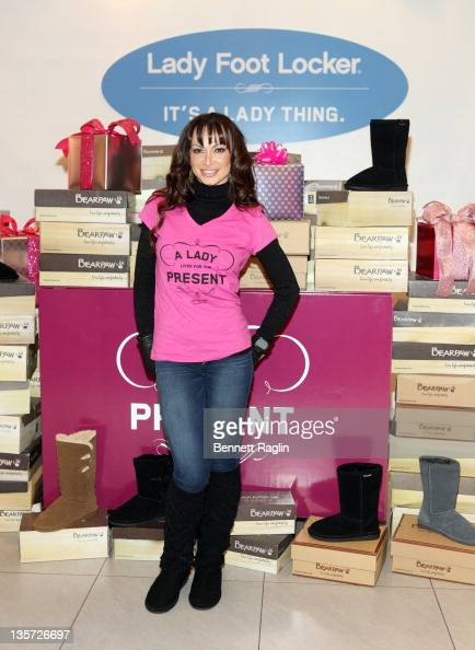 Dancer/TV personality Karina Smirnoff attends the Bearpaw boots charity event at Lady Foot Locker on December 13 2011 in New York City