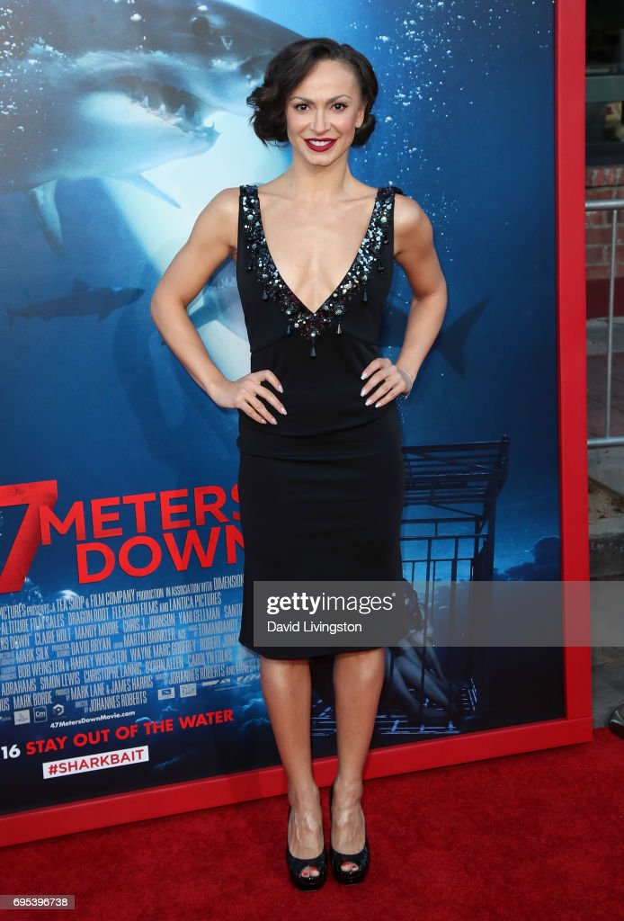 Dancer/TV personality Karina Smirnoff attends the premiere of Dimension Films' '47 Meters Down' at Regency Village Theatre on June 12, 2017 in Westwood, California.