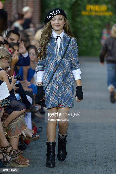Dancer/tv personality Maddie Ziegler walks at Ralph Lauren Children's Fashion Show at Central Park Zoo on August 5 2015 in New York City