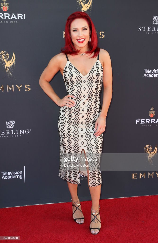 Dancer/TV personality Sharna Burgess attends the Television Academy's Choreography Peer Group Celebration at Saban Media Center on August 27, 2017 in North Hollywood, California.