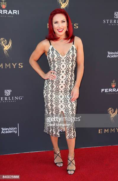 Dancer/TV personality Sharna Burgess attends the Television Academy's Choreography Peer Group Celebration at Saban Media Center on August 27 2017 in...