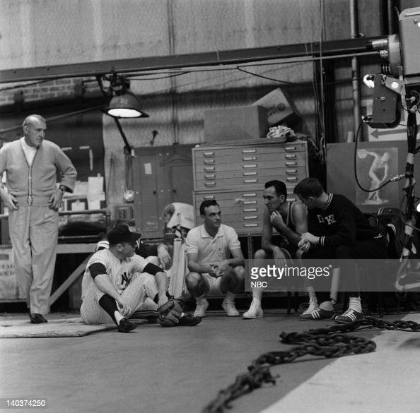 OMNIBUS 'Dancing A Man's Game' Aired Pictured Professional Golfer Vic Ghezzi Professional Baseball Player Mickey Mantle Professional Tennis Player...