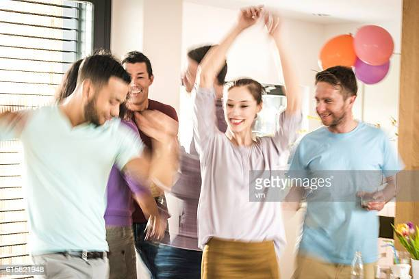 Dancing at a party