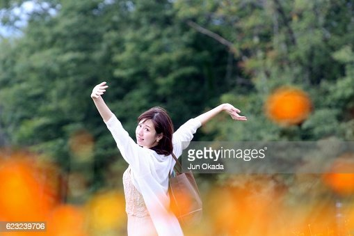 Dancing at cosmos field