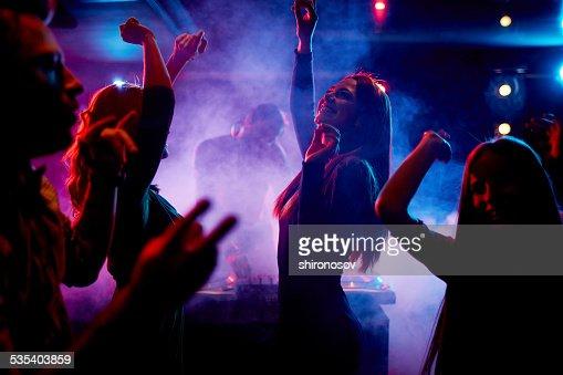 Dancing at disco : Stock Photo