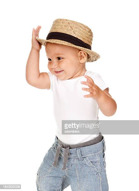 Dancing Baby Boy Wearing Hat