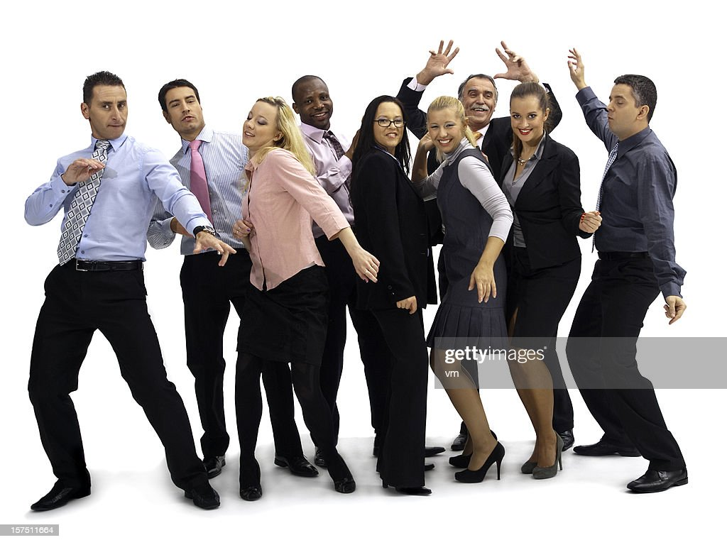 Dancing business group