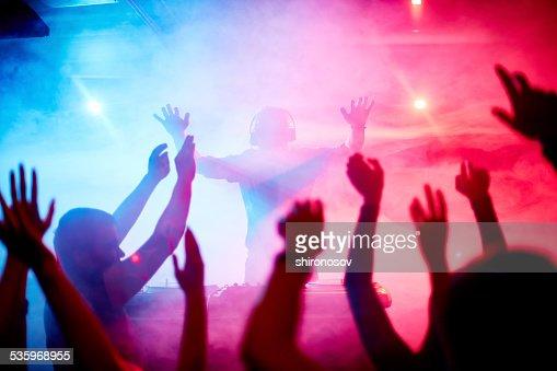 Dancing crowd : Stock Photo