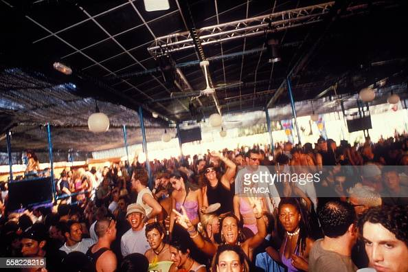 Dancing crowd Space Ibiza 1999
