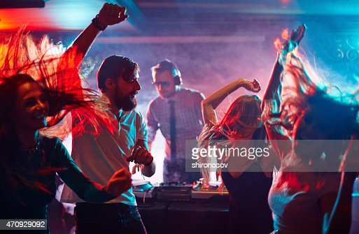 Dancing friends : Stock Photo