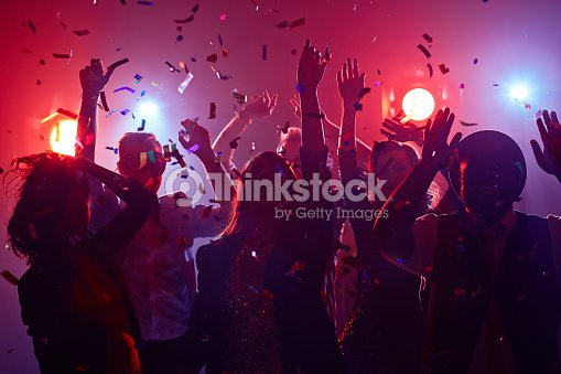 Dancing friends : Stock Photo
