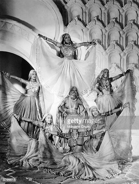 Dancing girls as they appear in 'The Lives Of A Bengal Lancer' about British army adventures on the NorthWest frontier The film was directed by Henry...