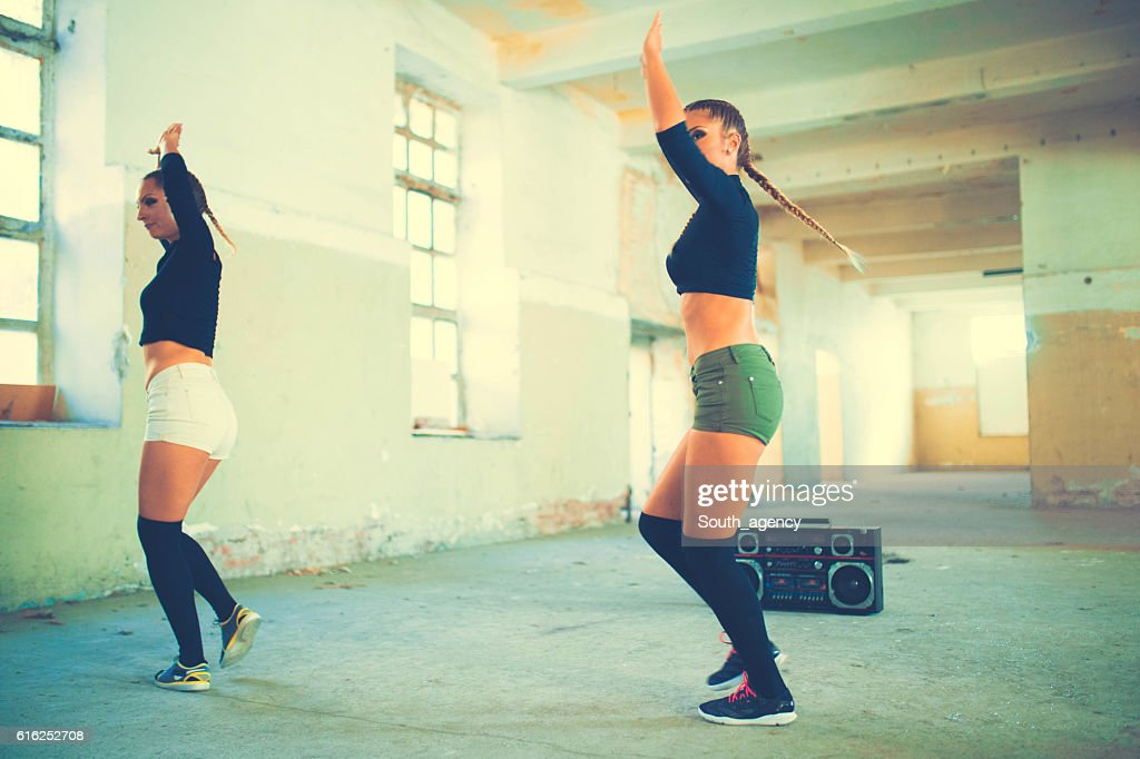 Dancing girls : Stock Photo