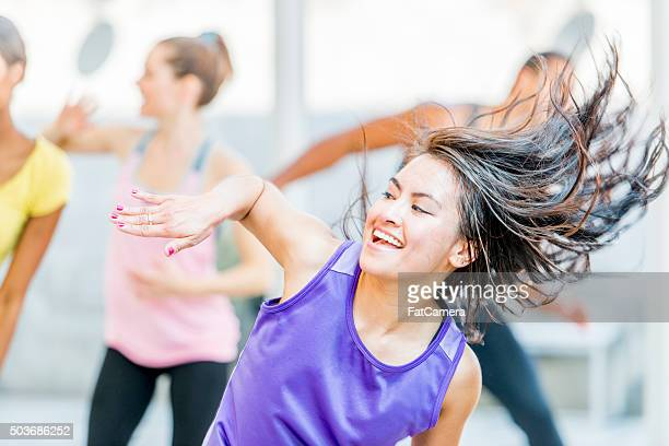 Dancing Happily in Fitness Class