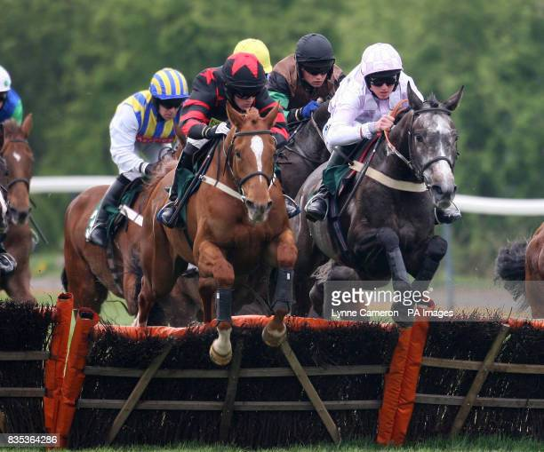 Dancing Mist ridden by Jack Doyle goes on to win the stanjamescom Novices' Handicap Hurdle during the Stan James Perth Festival Perth Racecourse Perth