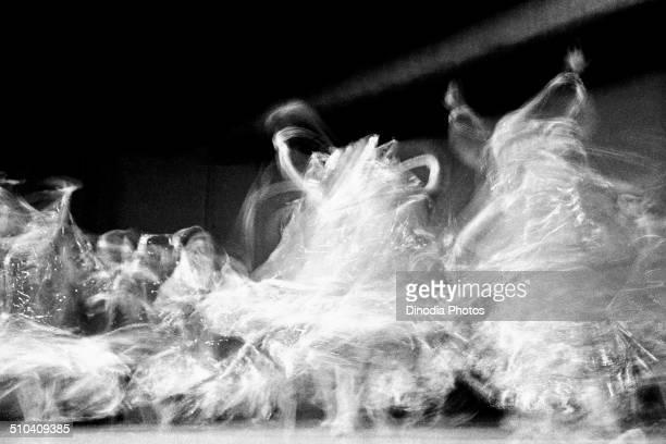 Dancing movement blur India 1970