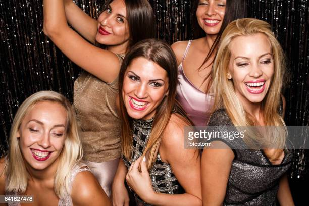 Dancing on a party with friends