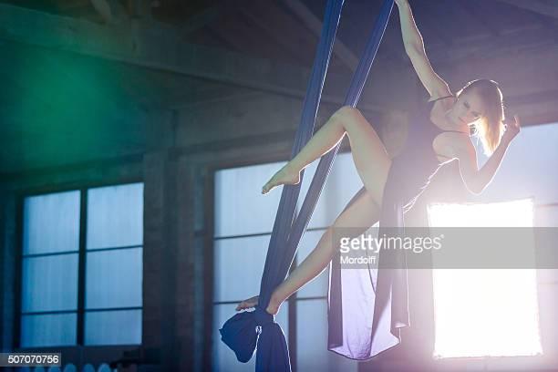 Dancing On Aerial Silk