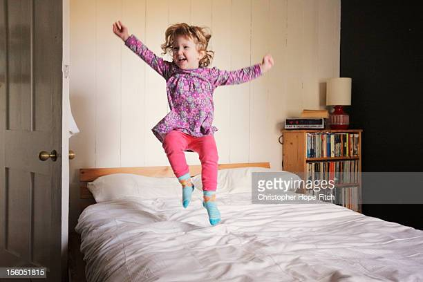 Dancing on the bed