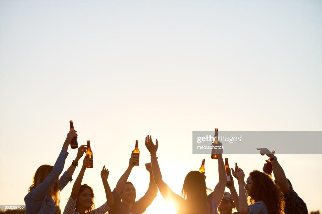 Dancing outdoors : Foto stock