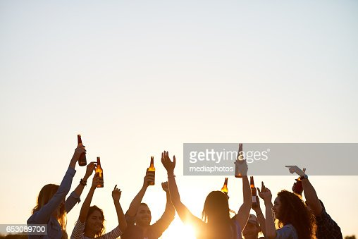 Dancing outdoors : Stock Photo
