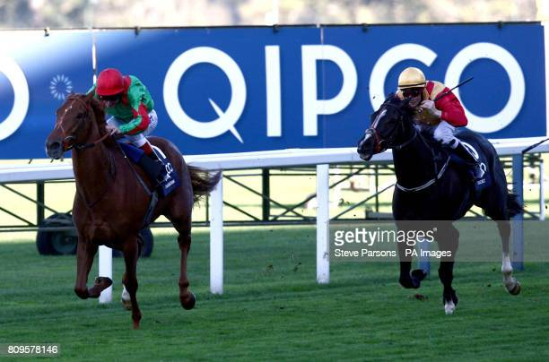 Dancing Rain ridden by Johnny Muirtagh wins the Qipco British Champions Fillies And Mares Stakes during the QIPCO British Champions Day at Ascot...